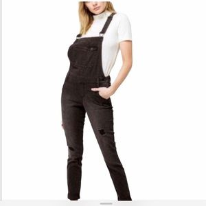 RSQ collective black distressed overalls NWT 00